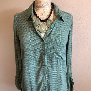 Shades of green relaxed button down by Soft Joie